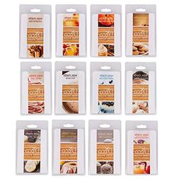 Deco Scented Wax Melts - Set of 12  Assorted Wax Warmer Cube