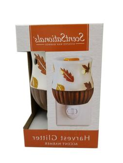ScentSationals Scented Wax Warmer Harvest Glitter Ceramic Pl
