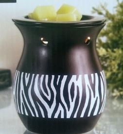 ScentSational Zebra Stripe Black Ceramic Electri Full Size F