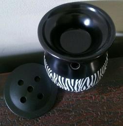 ScentSational Zebra Stripe Black Ceramic Plug-In Fragrance W