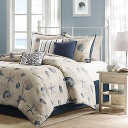 Seashells, Beach, Coral, Nautical King Comforter Set  + BONU