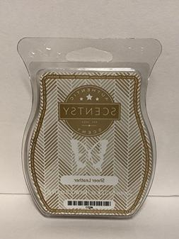 Scentsy Sheer Leather Wickless Candle Tart Wax 3.2 Fl Oz, 8
