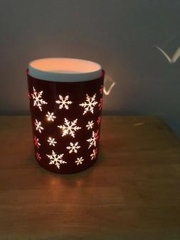 Scentsy Snowburst Warmer Wrap, Red snowflakes - New In Box