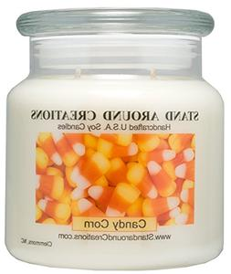 Premium 100% Soy Apothecary Candle - 16 oz. - Candy Corn: A