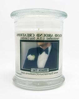 Premium 100% Soy Candle - 12 oz. Status Jar - Black Tie: Sop