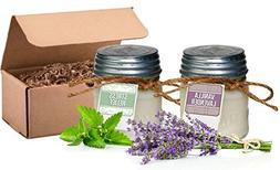 Aira Soy Candles - Organic, Kosher, Vegan in Mason Jar w/The