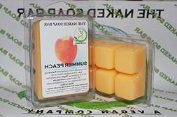 THE NAKED SOAP BAR - SUMMER PEACH SOY WAX CANDLE TARTS ]