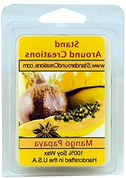 100% All Natural Soy Wax Melt Tart - Mango And Papaya: An up