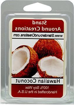 100% All Natural Soy Wax Melt Tart - Hawaiian Coconut - Suga