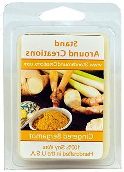 100% All Natural Soy Wax Melt Tart - Gingered Bergamot: A ta