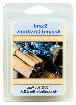 100% Soy Wax Melt Tart - Lavender Vanilla- A blend of herbal