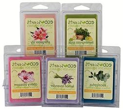 "EcoScents 100% All Natural Soy Wax Melts - ""Floral Pack"""