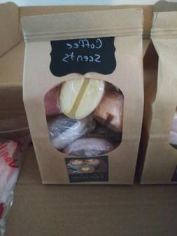 Handmade Soy Wax Melts coffee bean shaped variety scent samp