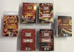 6 Pack Soy Wickless Candle Wax Bar Melts - Autumn Spice Pack