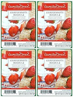 ScentSationals Strawberries & Cream Scented Wax Cubes - 4-Pa