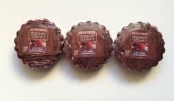 Yankee Candle SWEET FIG & POMEGRANATE LOT OF 3 TARTS WAX MEL