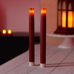 9 Inches Led Taper Candles with Timer, Dripless Battery Oper
