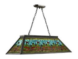Dale Tiffany TH12406 Glade Pool Table Hanging Fixture, Dark