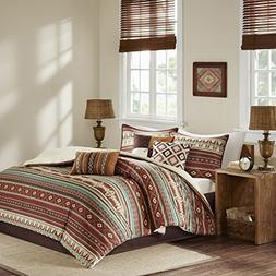 Southwest Turquoise Red Native American CAL King Comforter S