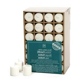 Hosley Set of 72 Unscented White Votive Candles up to 10-Hou