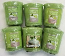 Lot of 3 Yankee Candle VANILLA LIME Sampler® Votive Candles