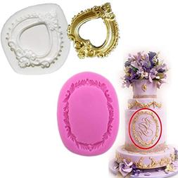 Anyana picture frame mold Vintage Silicone Cupcake Baking Mo