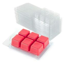 Wax Melt Molds Clamshells 100 Pack Tart Candle Making Cube C