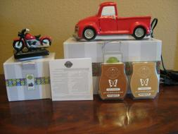 Scentsy Wax Melt Warmer RETRO 1950 CHEVY RED TRUCK WITH MOTO