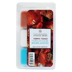 3 pack Wax Melts Amber/Beach Blanket/Coastal Breeze - Home S