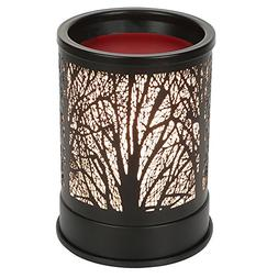 Foromans Wax Melts Candle Warmer Classic Black Metal Forest