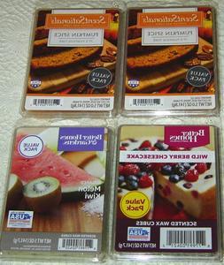 Wax Melts Cubes Lot Pumpkin Spice Wild Berry Cheesecake Melo