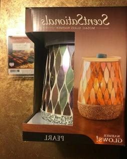 SCENTSATIONALS Wax Warmer Glowing PEARL Mosaic & Spice It Up