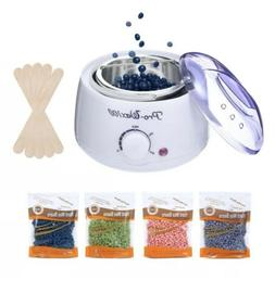 Wax Warmer Waxing Kit Melt 400g Hard Wax Beans with Wax Appl