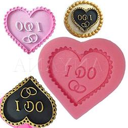 Anyana Wedding Love Baking Molds Heart With I Do Silicone Fo