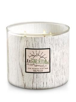 Bath and Body Works White Barn 3 Wick Candle Winter Sage 201
